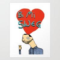 Valentine message from Crage Art Print
