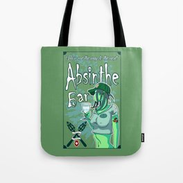Absinthe Bar Pinup Tote Bag