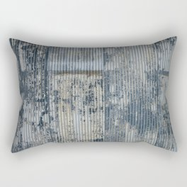 Warehouse District -- Vintage Industrial Farm Chic Abstract Rectangular Pillow