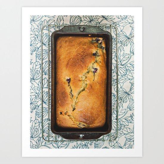 Blackberry Bread Art Print
