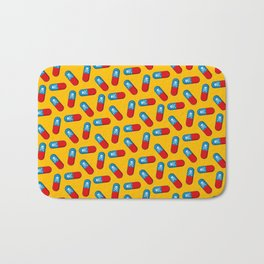 Deadly but Colorful. Pills Pattern Bath Mat