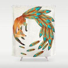 fox circle Shower Curtain