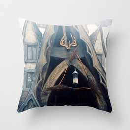 The Three Broomsticks Throw Pillow