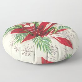 A Vintage Merry Christmas Candy Cane Floor Pillow