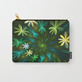 Fantasy Flowers, Fractal Art Carry-All Pouch
