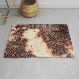 Cool brown rusty metal texture Rug