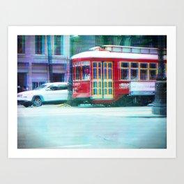 Streetcar on Canal Street Art Print