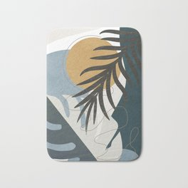 Abstract Tropical Art II Bath Mat
