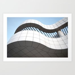 Getty Center Curves 2 Art Print