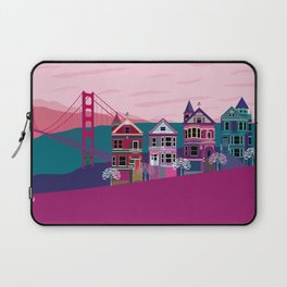 San FranciscoPainted Ladies and Golden Gate Laptop Sleeve