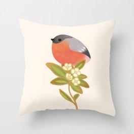 Eurasian bullfinch Throw Pillow