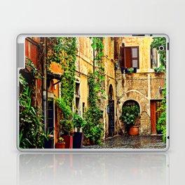 Vintage street in Rome, after Rain Laptop & iPad Skin