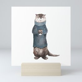 Charles the Sea Otter Mini Art Print