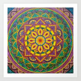 Secret Garden mandala Art Print