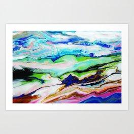 mountainous moments  Art Print