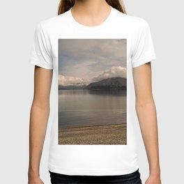 lake wanaka silent capture at sunset in new zealand T-shirt