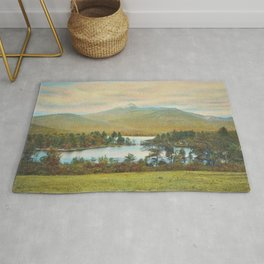Hand Colored Photograph of Mt. Chocoura, New Hampshire 1920 Charles Henry Sawyer Rug