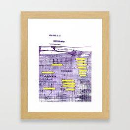 Glimmer Framed Art Print