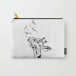 Giraffe blowing dandelion seeds Carry-All Pouch