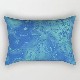 Blue Metal Rectangular Pillow