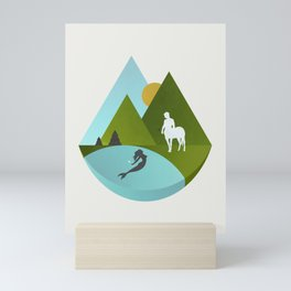 The Mermaid and the Centaur Mini Art Print