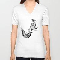literature V-neck T-shirts featuring literature fox 3 by vasodelirium