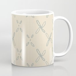 Abstract Astral Pattern in Yellow & Green Coffee Mug
