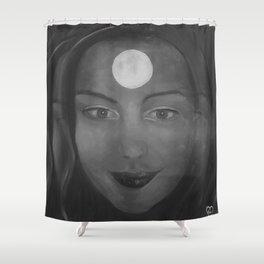Self-portrait by Lu Shower Curtain