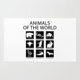 RARE ANIMALS OF THE WORLD Rug