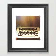 Writer's Block Framed Art Print