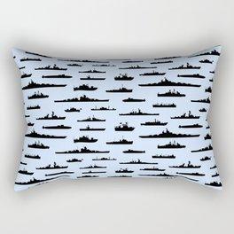Battleship // Light Blue Rectangular Pillow