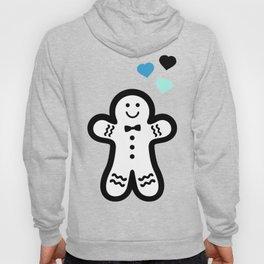 Pastel and Black Gingerbread Man Hoody