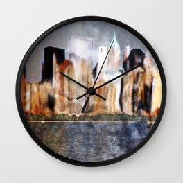 Skyline of New York City Wall Clock