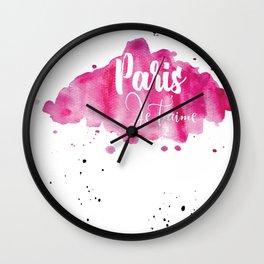 I love you, Paris (France) Wall Clock