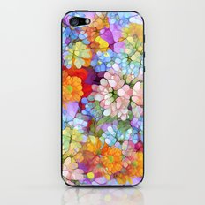 Rainbow Flower Shower iPhone & iPod Skin