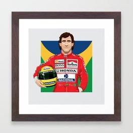 Ayrton Senna's Portrait Framed Art Print
