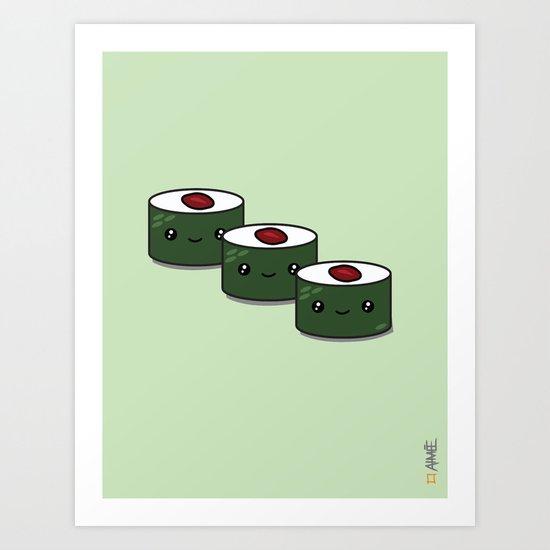 Tuna Roll Sushi Art Print