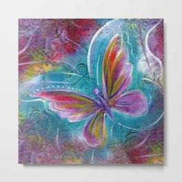 Butterfly! Original painting by Mimi Bondi Metal Print