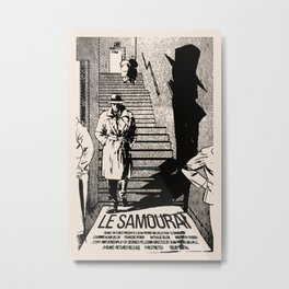 Le Samourai Movie Poster Artwork Metal Print