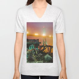 Halifax meets Vice City Unisex V-Neck