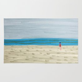 Swimmer on a Winter Beach Rug