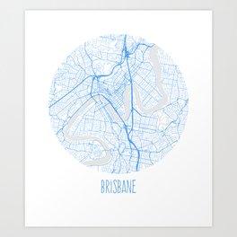 Brisbane. Blue Period. Art Print