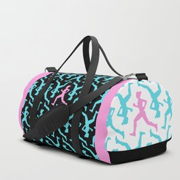 Running Girl Pastel Pattern Duffle Bag