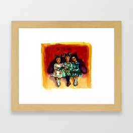 No voy sola Framed Art Print