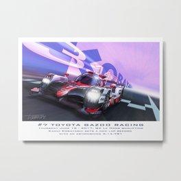 Kobayshi Pole, #7 Toyota TS050 Metal Print