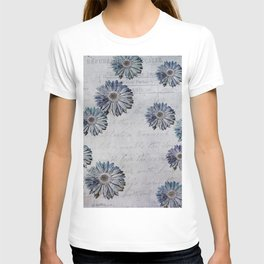blue daisies par avion T-shirt