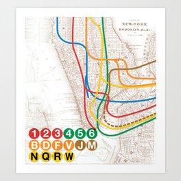 What the Future Awaits for New York I Art Print
