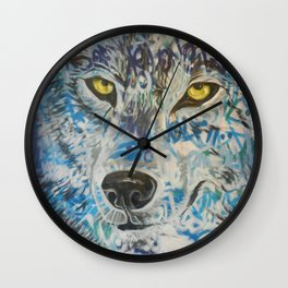 Eyes of The Lone Wolf Wall Clock