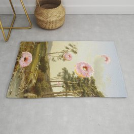 CLOUDY WITH A CHANCE OF DONUTS Rug