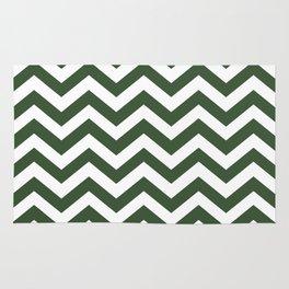 Pine Green Chevron Zig Zag Pattern Rug
